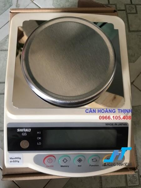 Cân điện tử kỹ thuật Shinko GS 620g - 0.01g là mẫu cân được sử dụng trong phòng thí nghiệm, cân trọng lượng các mẫu vật nhỏ