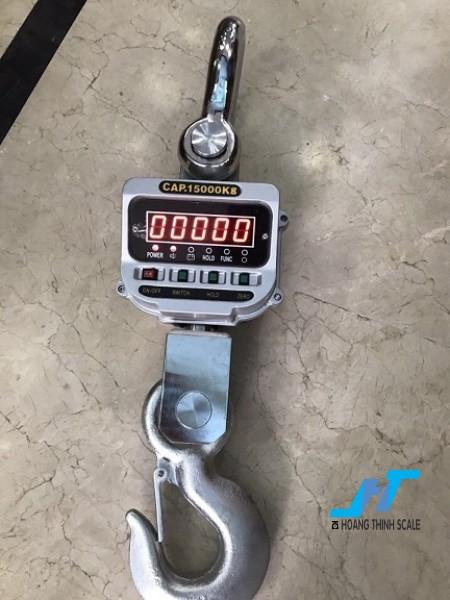 Cân treo điện tử OCS 15 tấn được Cân Hoàng Thịnh cung cấp cho ngành sắt thép công nghiệp nặng, với tiêu chuẩn an toàn chất lượng cao. Liên hệ 0966.105.408 để được giảm giá 10%