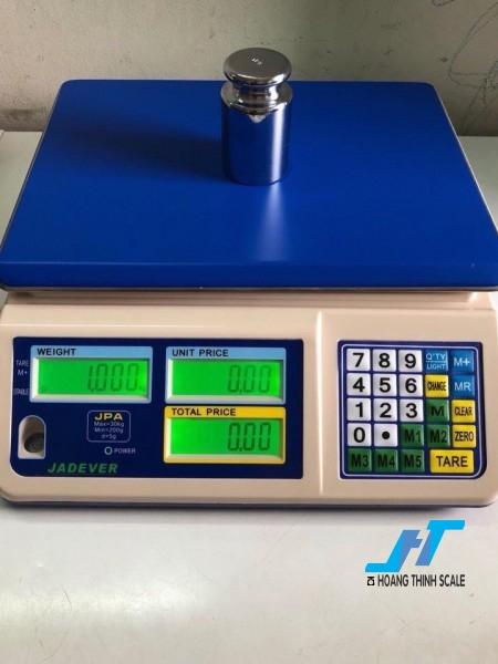 Cân điện tử tính tiền JADEVER JPA 30kg cân chuyên dùng cho cân siêu thị bán hàng được Cân Hoàng Thịnh cung cấp chính hãng chất lượng. Liên hệ 0966.105.408