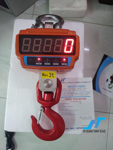 Cân treo điện tử ocs jje 3 tấn sử dụng cho ngành sắt thép công nghiệp nặng được Cân Hoàng Thịnh cung cấp chính hãng, báo giá cân treo 3 tấn gọi 0966.105.408